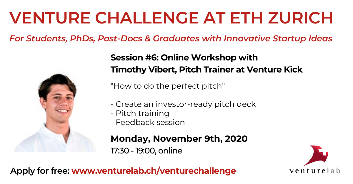 Venture Challenge at ETH: How to Do the Perfect Pitch