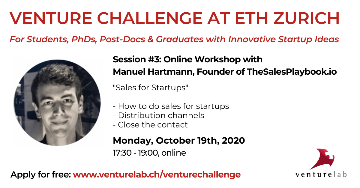 Venture Challenge at ETH: Sales for Startups